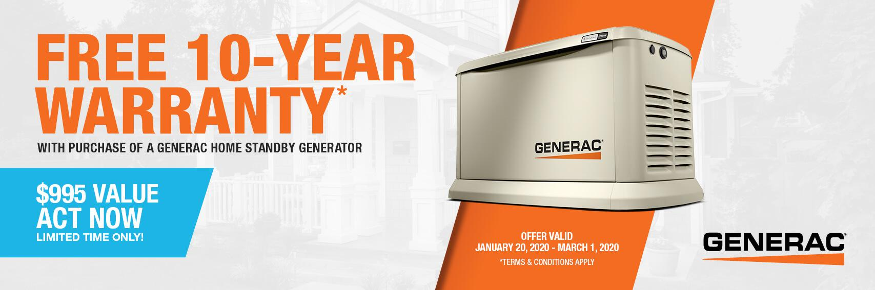 Homestandby Generator Deal | Warranty Offer | Generac Dealer | Columbia, MS